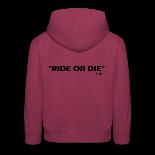 Ride or die (noir) - Pull à capuche Premium Enfant