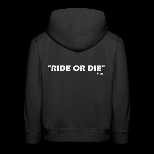 Ride or die (blanc) - Pull à capuche Premium Enfant