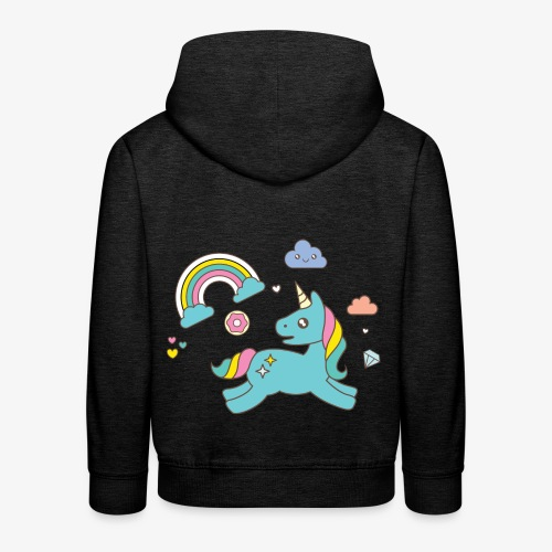 colored unicorn - Kids' Premium Hoodie