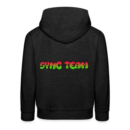 vêtement avec text SYNC TEAM - Pull à capuche Premium Enfant