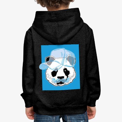 Panda - Cap - Mustache - Kinder Premium Hoodie