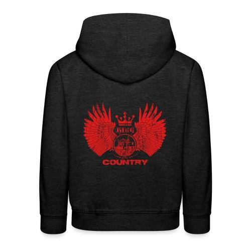 IH KING of the COUNTRY (Red design) - Kinderen trui Premium met capuchon