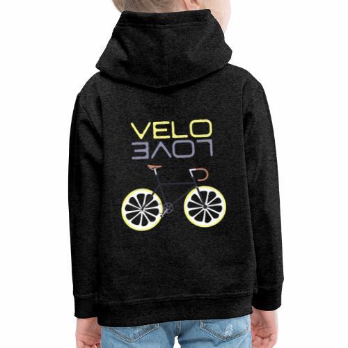 Lemon Bike - Velo Love Shirt Rennradfahrer Shirt - Kinder Premium Hoodie