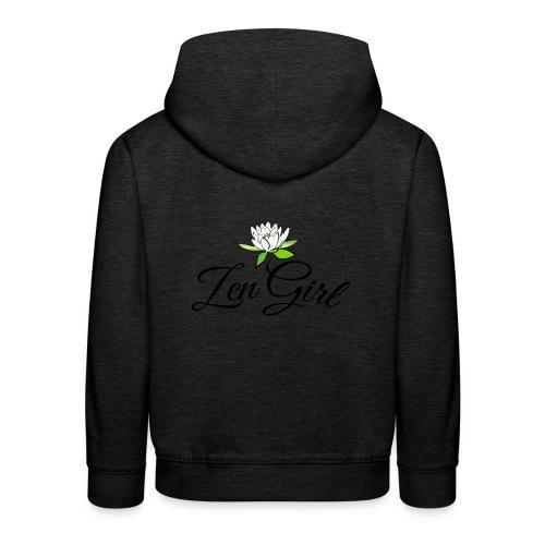 Zen Girl -Lotus Blomma - Prima Vera Design - Premium-Luvtröja barn