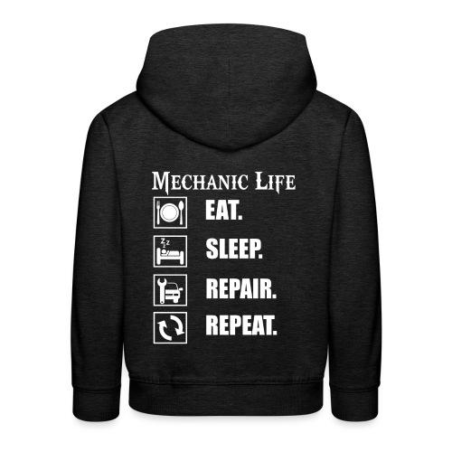 Das Leben als Mechaniker ist hart! Witziges Design - Kinder Premium Hoodie
