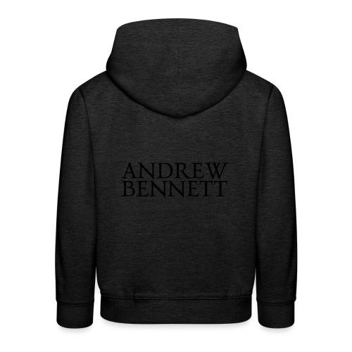 Andrew Bennett Logo noir - Pull à capuche Premium Enfant