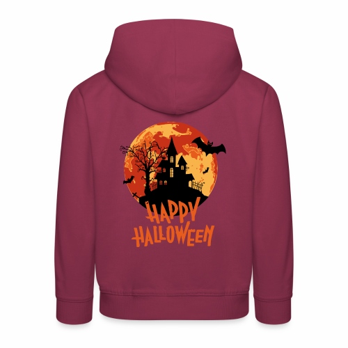 Bloodmoon Haunted House Halloween Design - Kinder Premium Hoodie