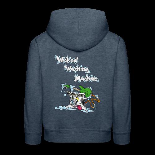 Wicked Washing Machine Cartoon and Logo - Kinderen trui Premium met capuchon