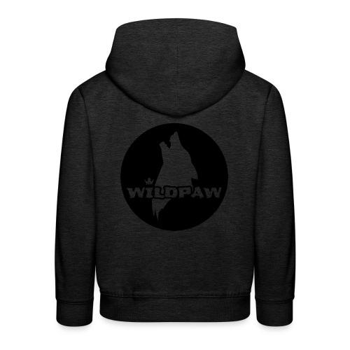 Wildpaw logo circular transparent mono - Kids' Premium Hoodie