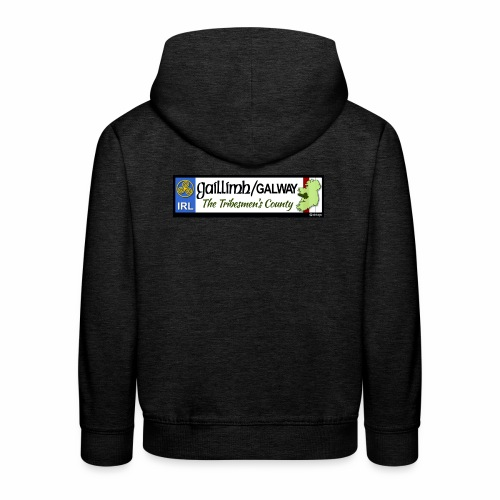 CO. GALWAY, IRELAND: licence plate tag style decal - Kids' Premium Hoodie