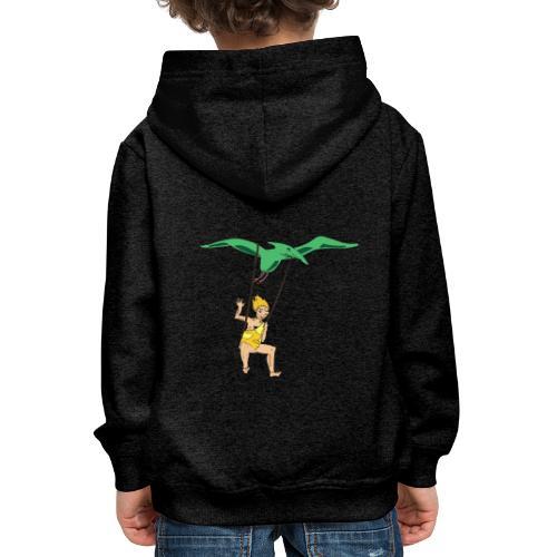 Vol en dinausore - Pull à capuche Premium Enfant