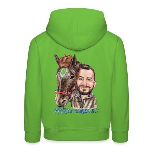 Pferde-Hoschi Kollektion hinten - Kinder Premium Hoodie