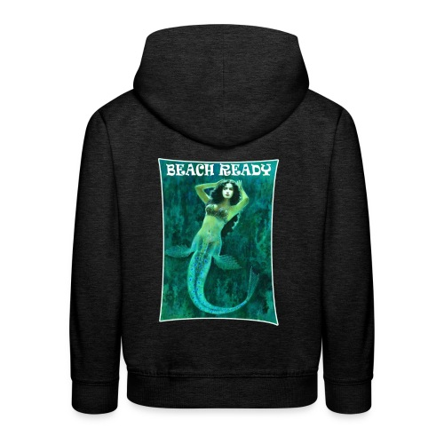 Vintage Pin-up Beach Ready Mermaid - Kids' Premium Hoodie