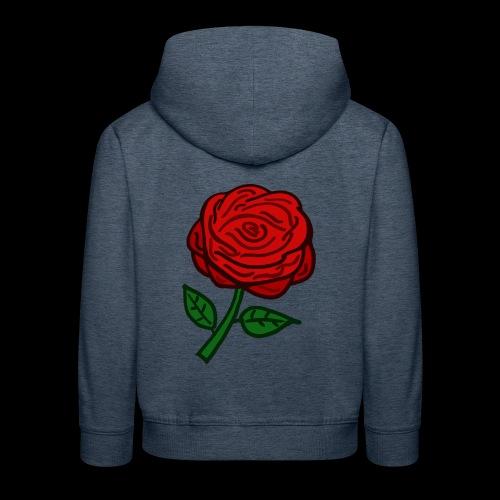 Rote Rose - Kinder Premium Hoodie
