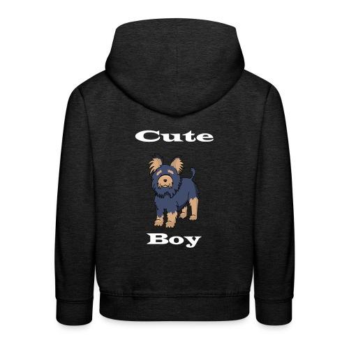 Hund Weiß - Kinder Premium Hoodie