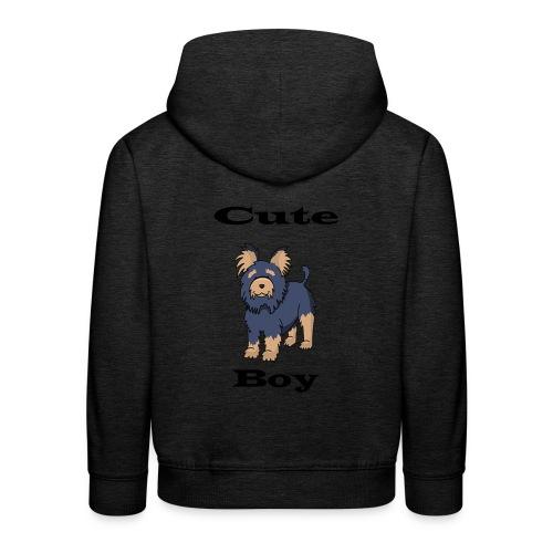 Hund schwarz - Kinder Premium Hoodie