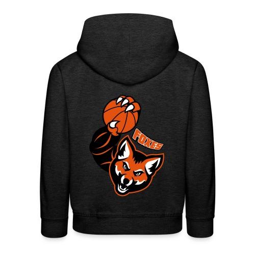 Foxes basketball - Pull à capuche Premium Enfant