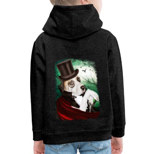 Gothic Dog #3 - Felpa con cappuccio Premium per bambini