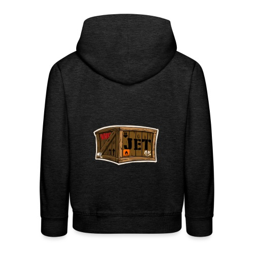 Jet Cartoon Wood Box - Kinder Premium Hoodie