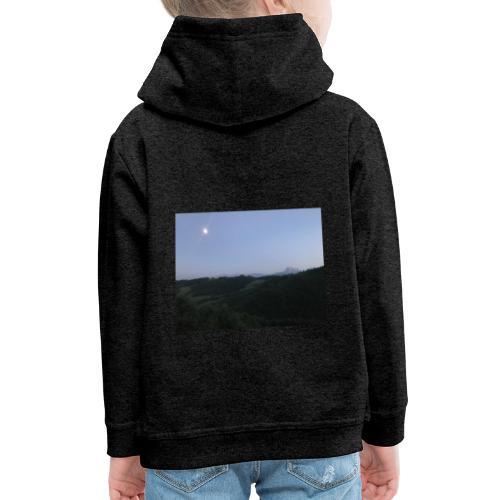 Paesaggio con luna - Felpa con cappuccio Premium per bambini