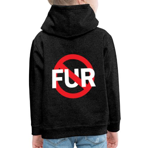 Fuck fur! White - Premium-Luvtröja barn