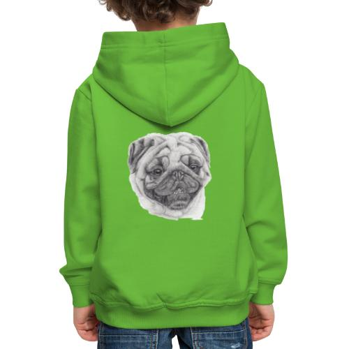 Pug mops 2 - Premium hættetrøje til børn