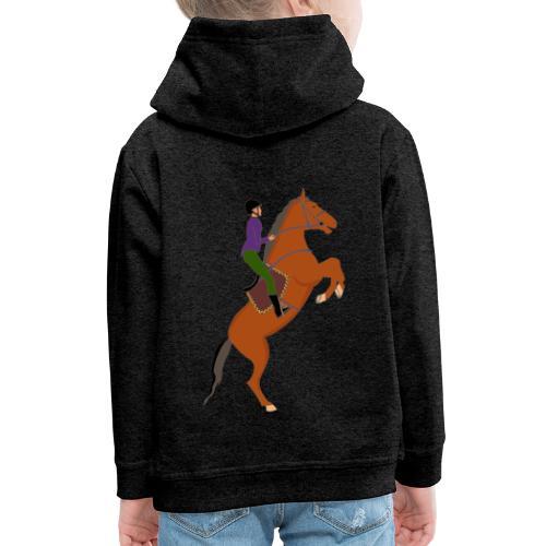 Maggy la cavaliere - Pull à capuche Premium Enfant