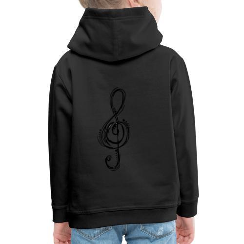 Violinschlüssel - Kinder Premium Hoodie
