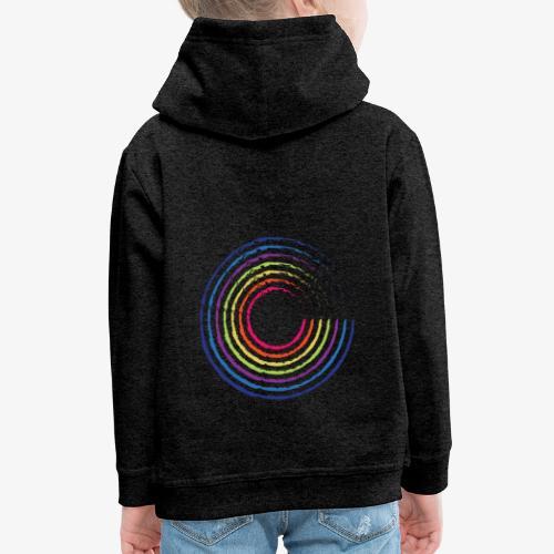 Circle rainbow - Felpa con cappuccio Premium per bambini