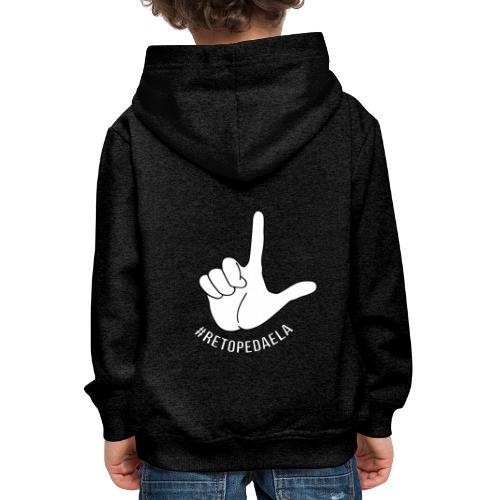 Dedo Big - #RetoPedaEla - Sudadera con capucha premium niño