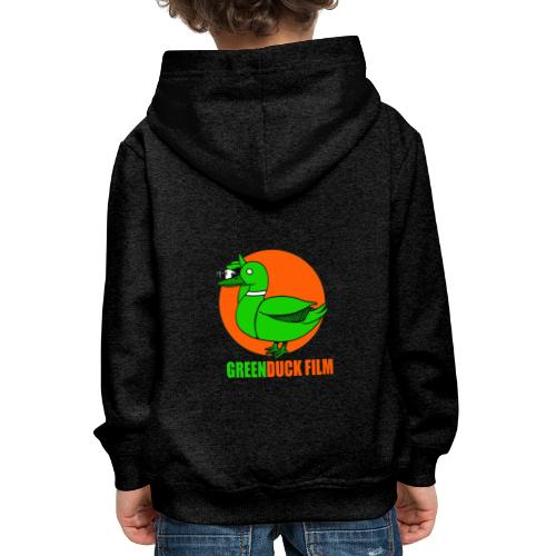 Greenduck Film Orange Sun Logo - Premium hættetrøje til børn