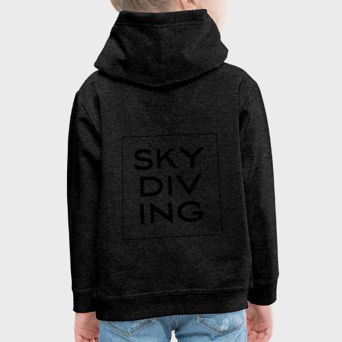 SKY DIV ING Black - Kinder Premium Hoodie