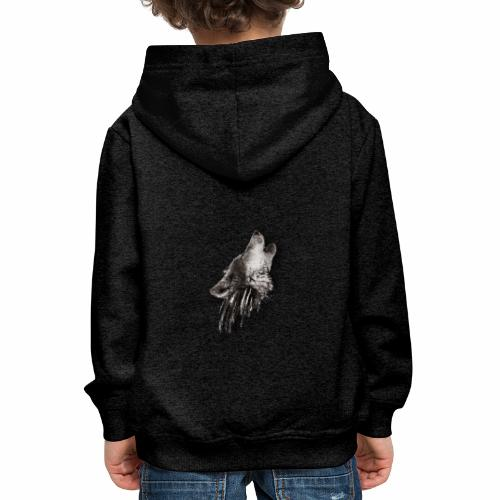 Lobo Degradado - Sudadera con capucha premium niño