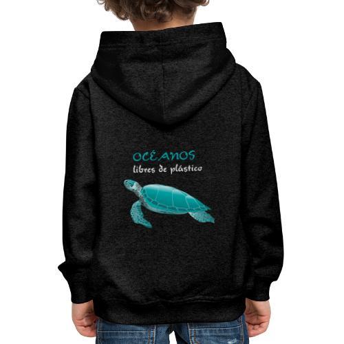 Océanos libres de plástico - Sudadera con capucha premium niño