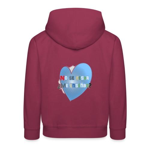 besos - Sudadera con capucha premium niño
