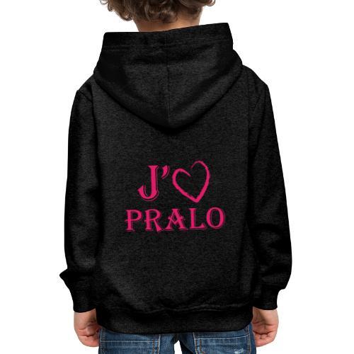 j aime pralo - Pull à capuche Premium Enfant