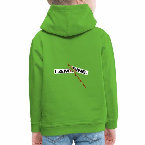 I AM FINE Design mit Schnitt, Depression, Cut - Kinder Premium Hoodie