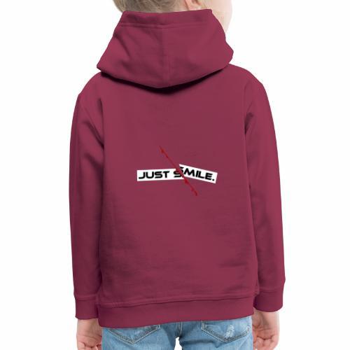 JUST SMILE Design mit blutigem Schnitt, Depression - Kinder Premium Hoodie