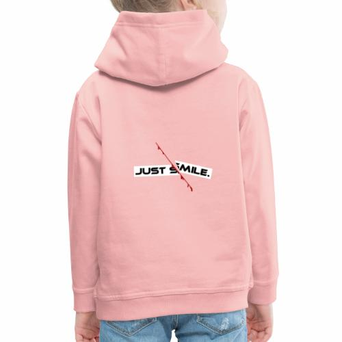 JUST SMILE Design mit blutigem Schnitt, Depression - Kinder Premium Hoodie