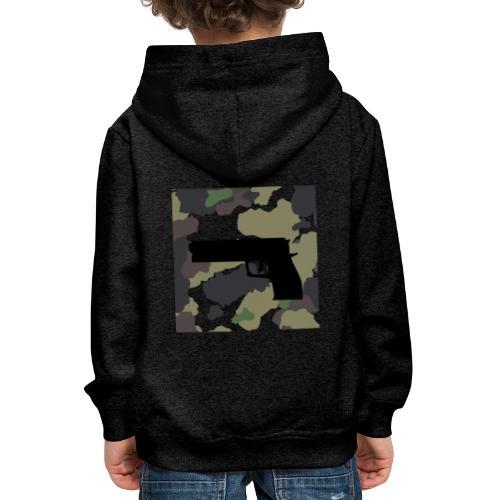 GUN CAMO - Bluza dziecięca z kapturem Premium