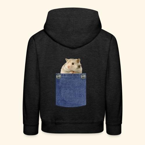 hamster in the poket - Felpa con cappuccio Premium per bambini