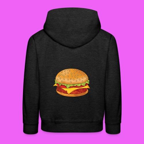 hamburguesa - Sudadera con capucha premium niño
