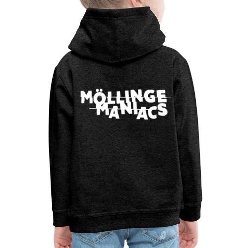 Möllinge Maniacs Vit logga - Premium-Luvtröja barn