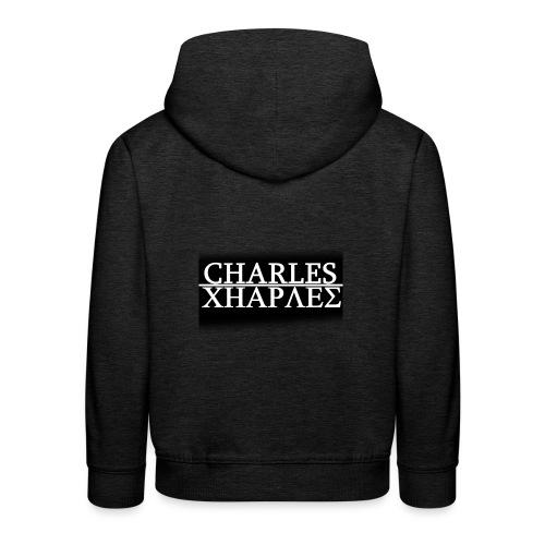 CHARLES CHARLES BLACK AND WHITE - Kids' Premium Hoodie