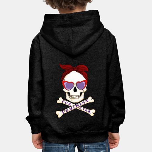 Feminist skull - Sudadera con capucha premium niño