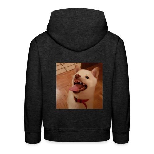 Mein Hund xD - Kinder Premium Hoodie