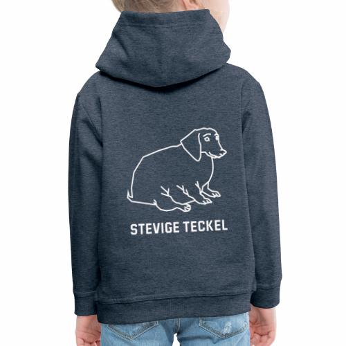 Stevige Teckel - Kinderen trui Premium met capuchon