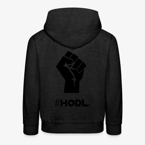 HODL-fist-b - Kids' Premium Hoodie