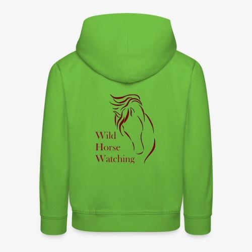 Logo Aveto Wild Horses - Felpa con cappuccio Premium per bambini