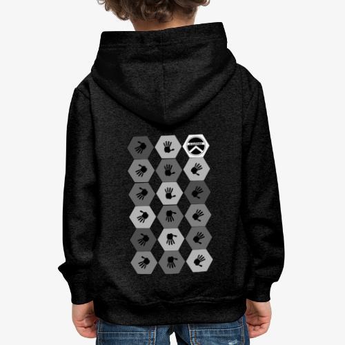 |K·CLOTHES| HEXAGON ESSENCE GREYS & WHITE - Sudadera con capucha premium niño